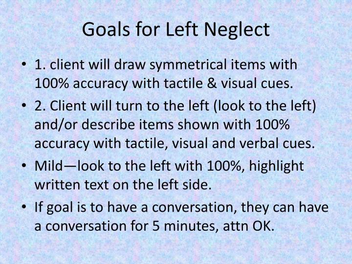 Goals for Left Neglect