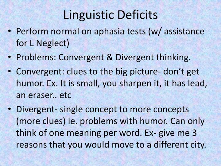 Linguistic Deficits