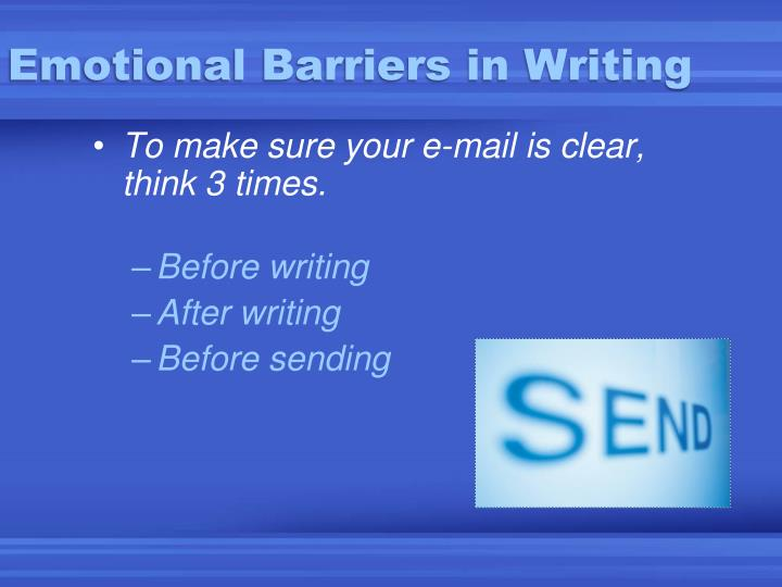 Emotional Barriers in Writing