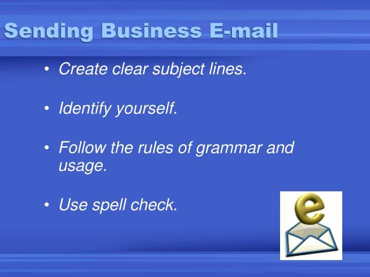 Sending Business E-mail