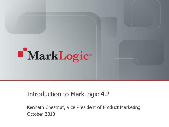introduction to marklogic 4 2 n.