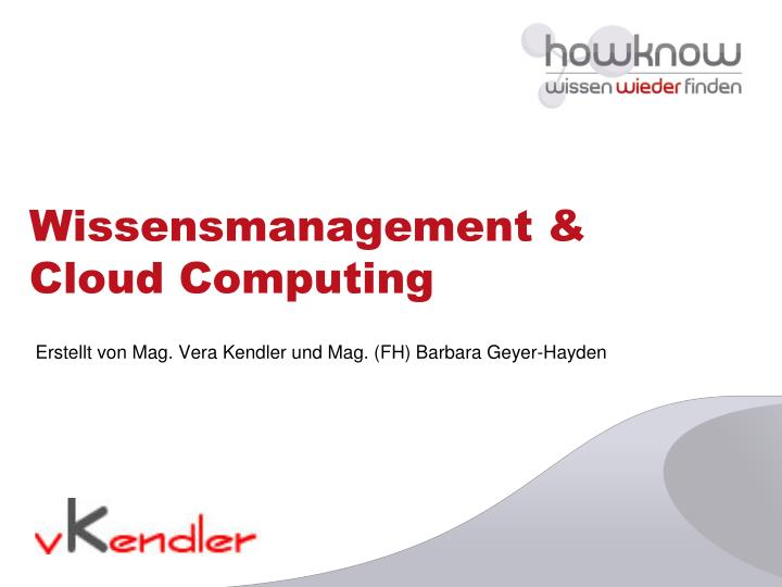 wissensmanagement cloud computing n.