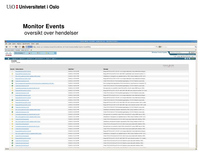 Monitor Events