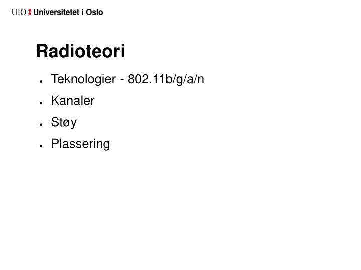 Radioteori