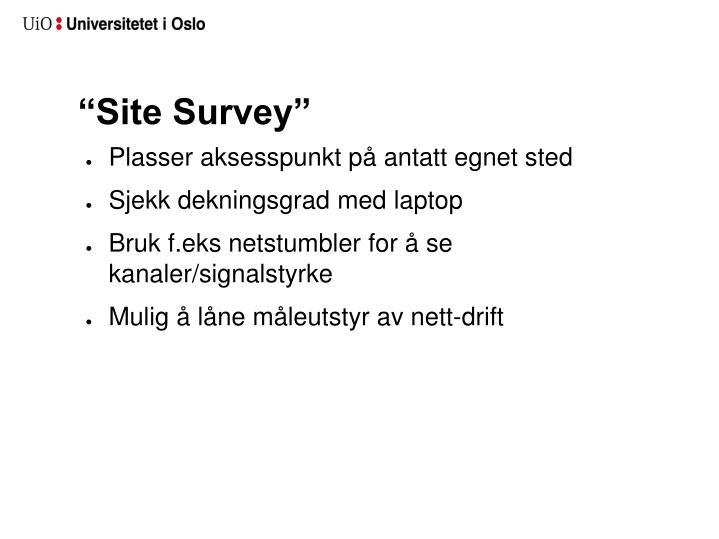 """""""Site Survey"""""""