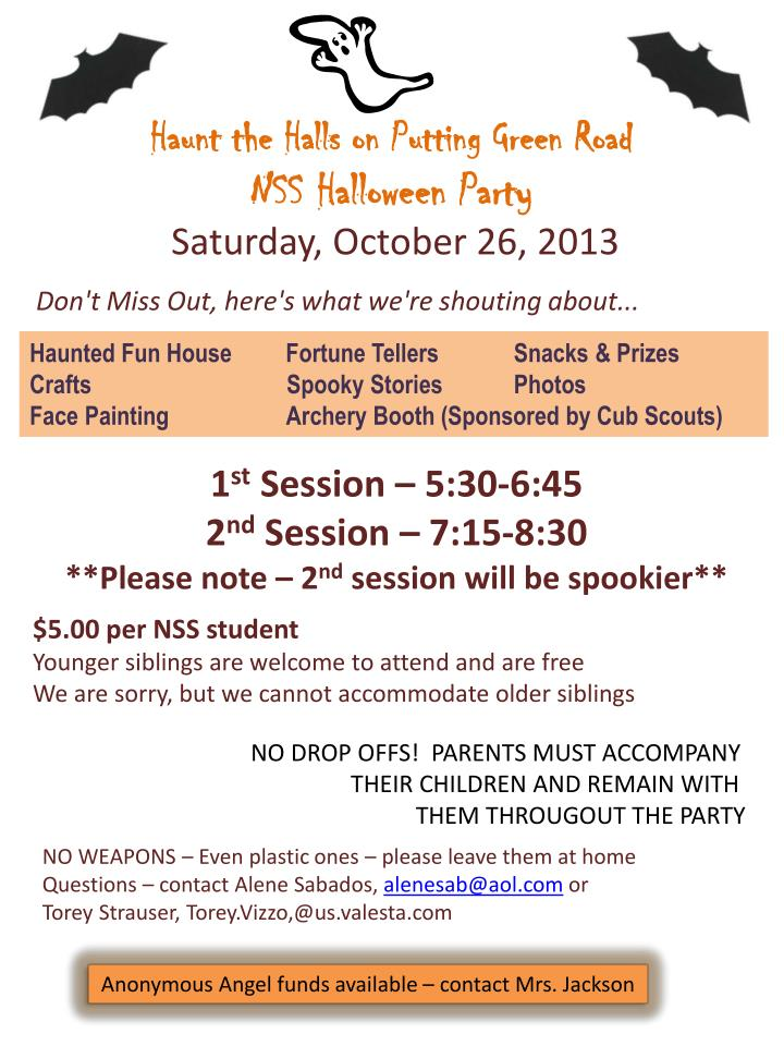 haunt the halls on putting green road nss halloween party n.