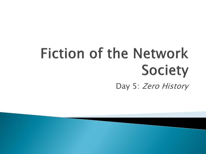 fiction of the network society n.