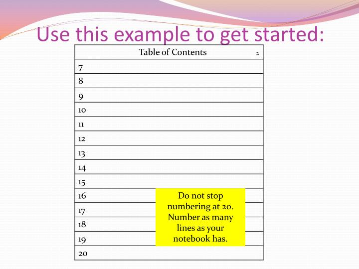 Use this example to get started: