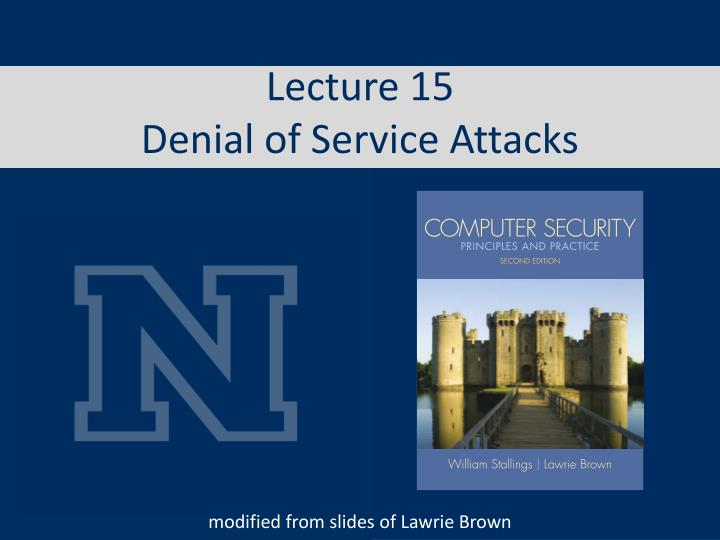 lecture 15 denial of service attacks n.