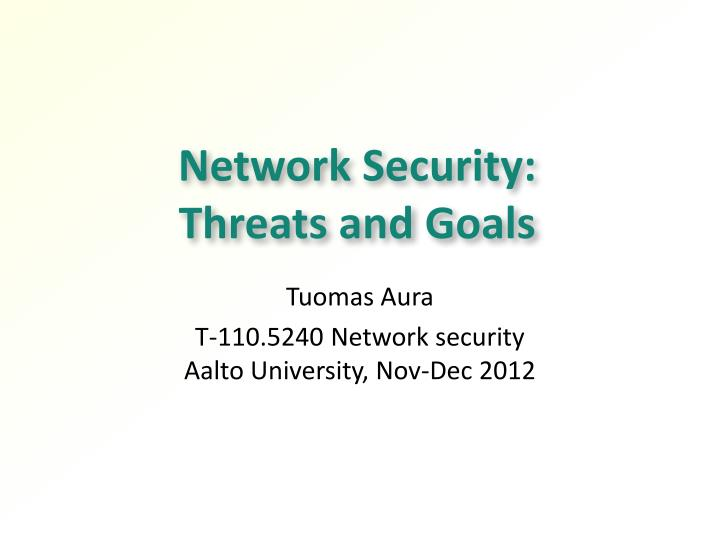 network security threats and goals n.