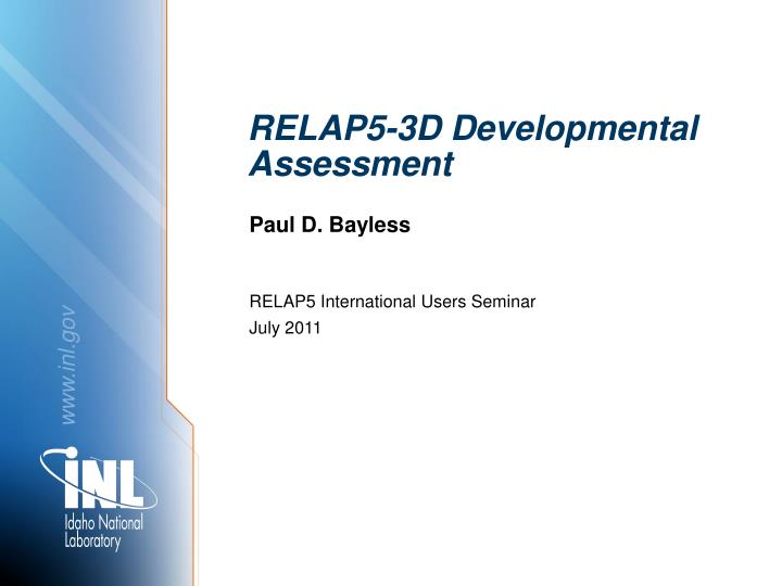 relap5 3d developmental assessment n.