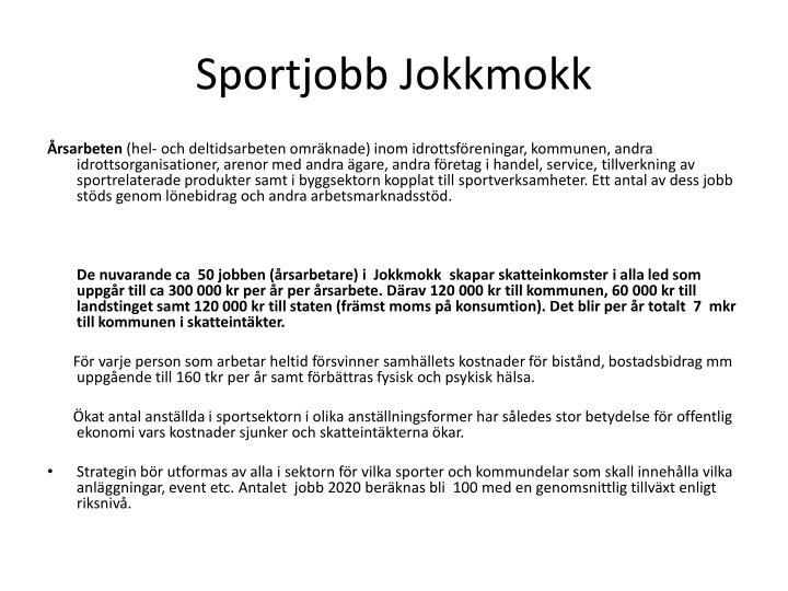 Sportjobb Jokkmokk
