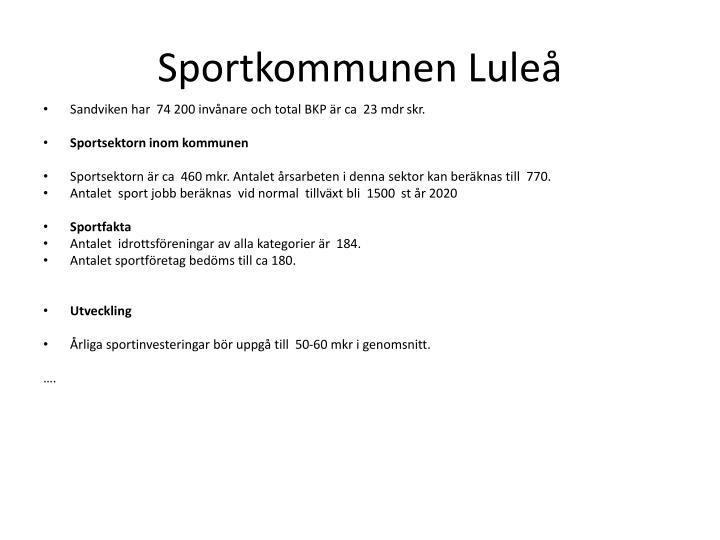 Sportkommunen Luleå