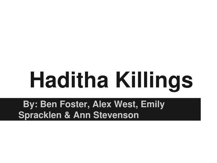 haditha killings n.