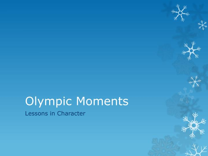 olympic moments n.