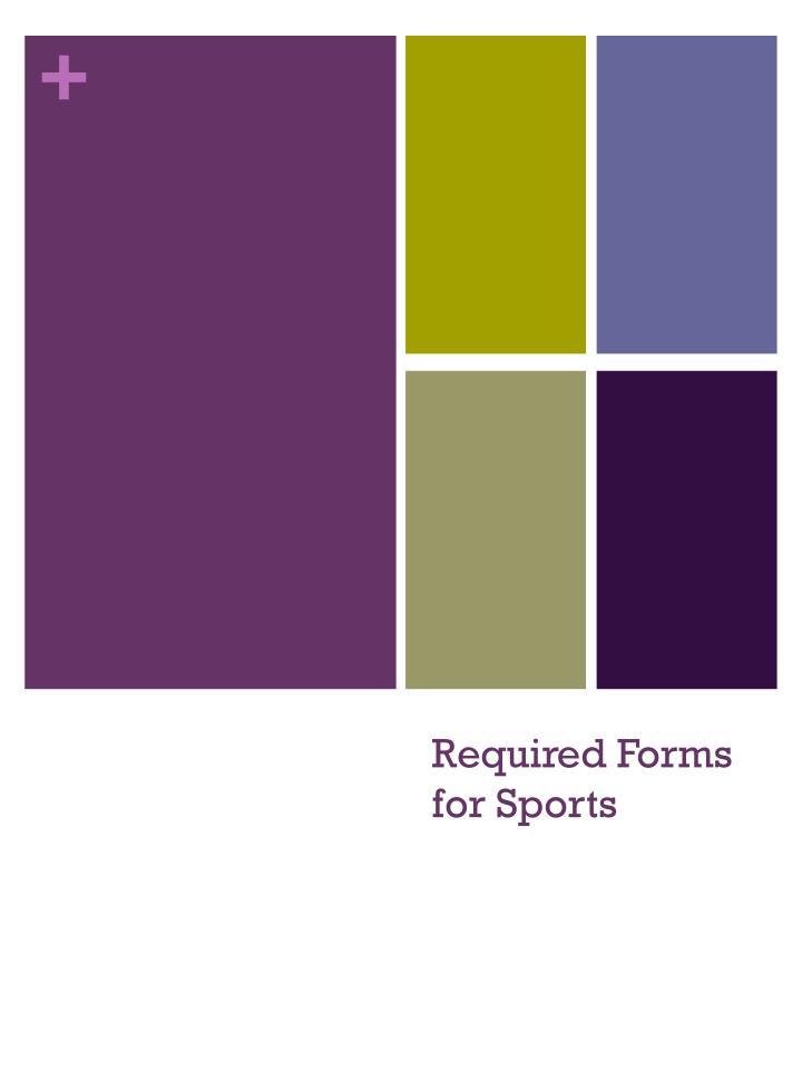 required forms for sports n.
