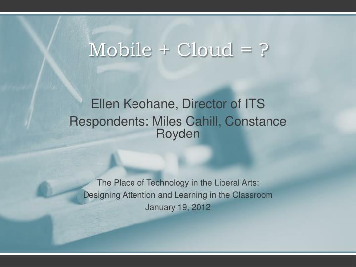 mobile cloud n.