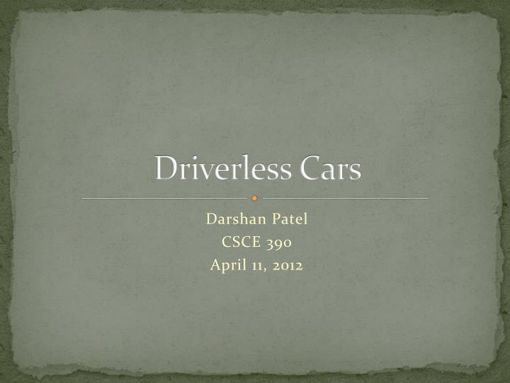 driverless cars n.