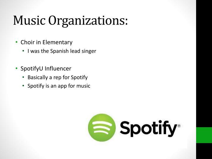 Music Organizations:
