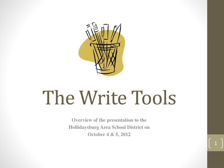 the write tools n.