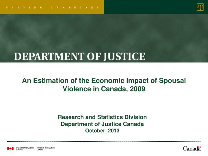 an estimation of the economic impact of spousal violence in canada 2009 n.
