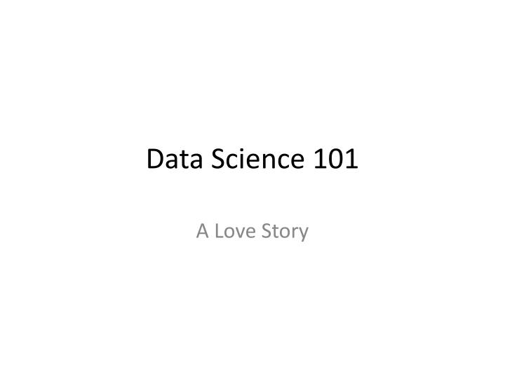 data science 101 n.