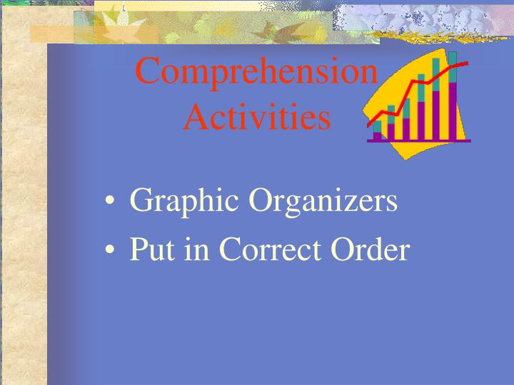 Comprehension Activities