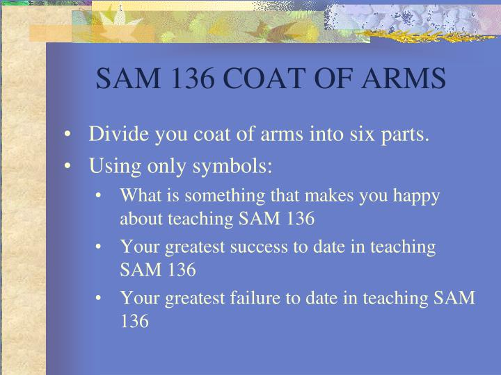SAM 136 COAT OF ARMS