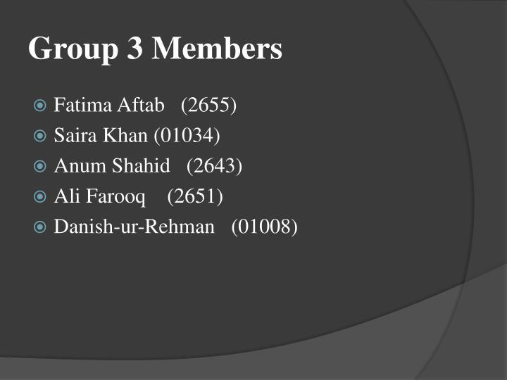 Group 3 members