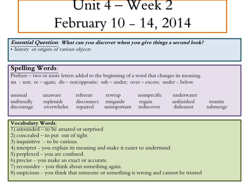 Ppt Unit 4 Week 2 February 10 14 2014 Powerpoint