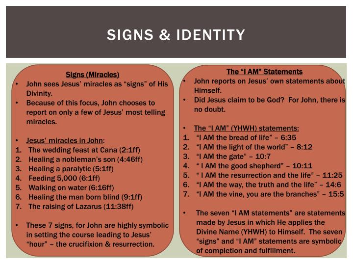 7 signs in john