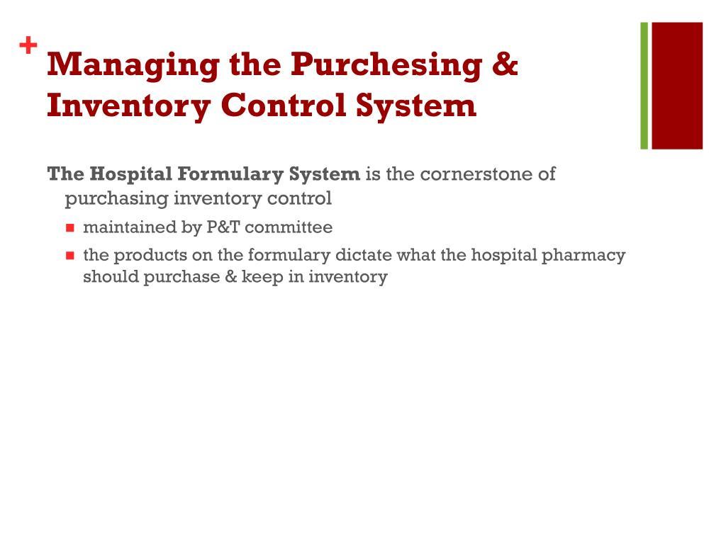 PPT - Hospital Pharmacy Part -3 PowerPoint Presentation - ID