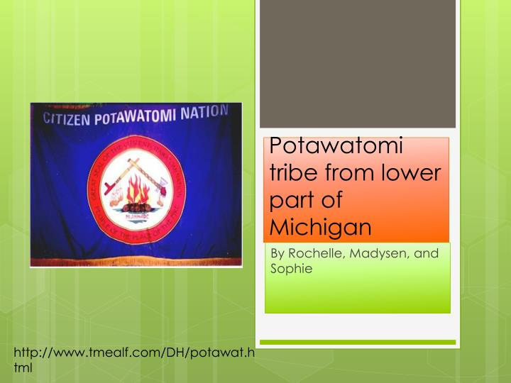 potawatomi tribe from lower part of michigan n.