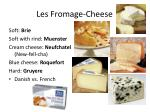 les fromage cheese