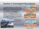 section 2 convergent boundaries