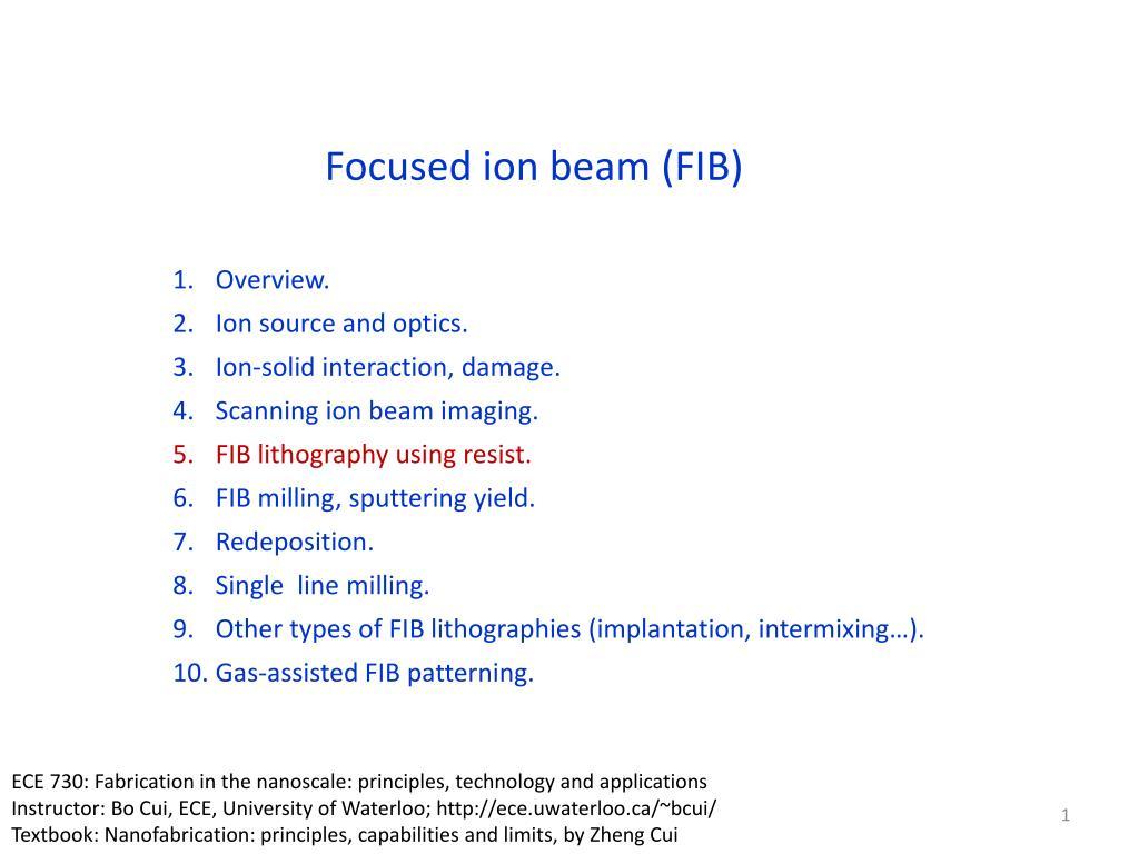 ppt - focused ion beam  fib  powerpoint presentation