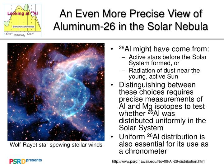 an even more precise view of aluminum 26 in the solar nebula n.