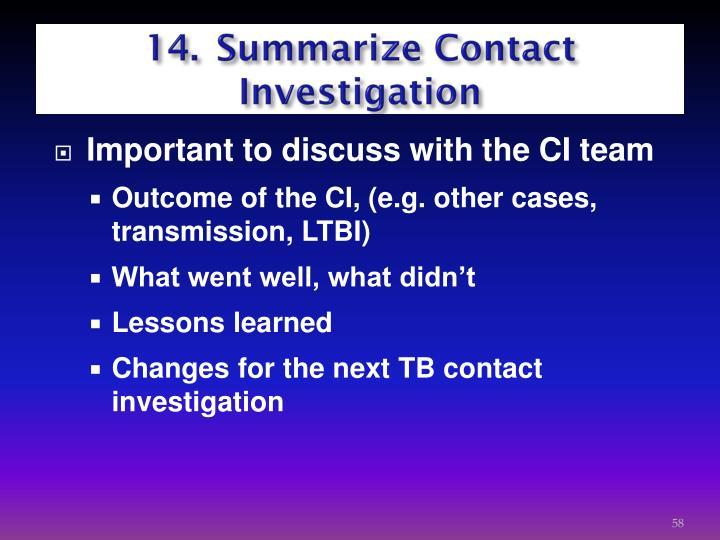 14.Summarize Contact