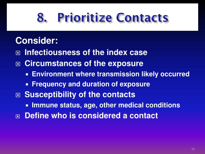 8. Prioritize Contacts