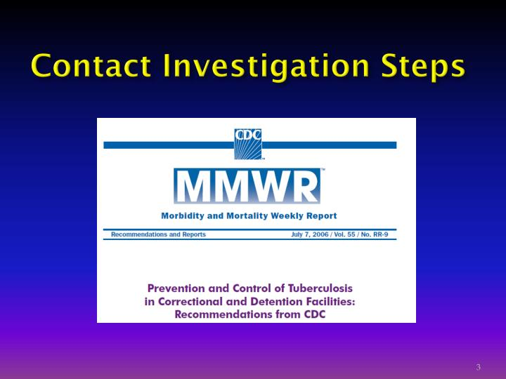 Contact investigation steps
