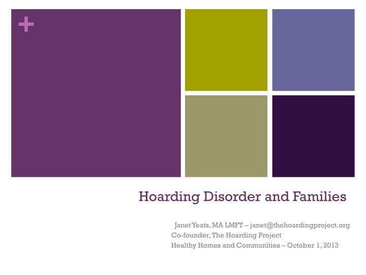 hoarding disorder and families n.