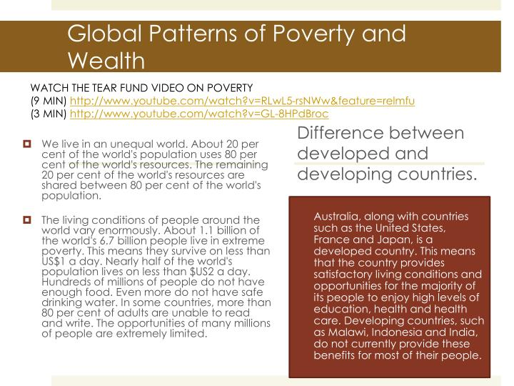 essays on wealth and poverty Wealth is khayr khayr in arabic means goodness another reason for world poverty and lack of world development is shortage of food and hunger because 20% of the 3rd world countries have a lack of food therefore this has caused many civil wars as in africa.