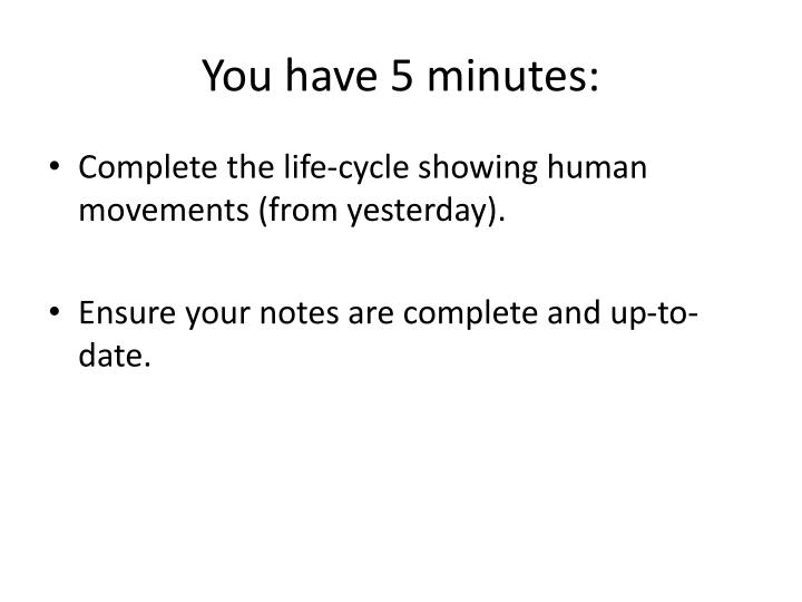 you have 5 minutes n.