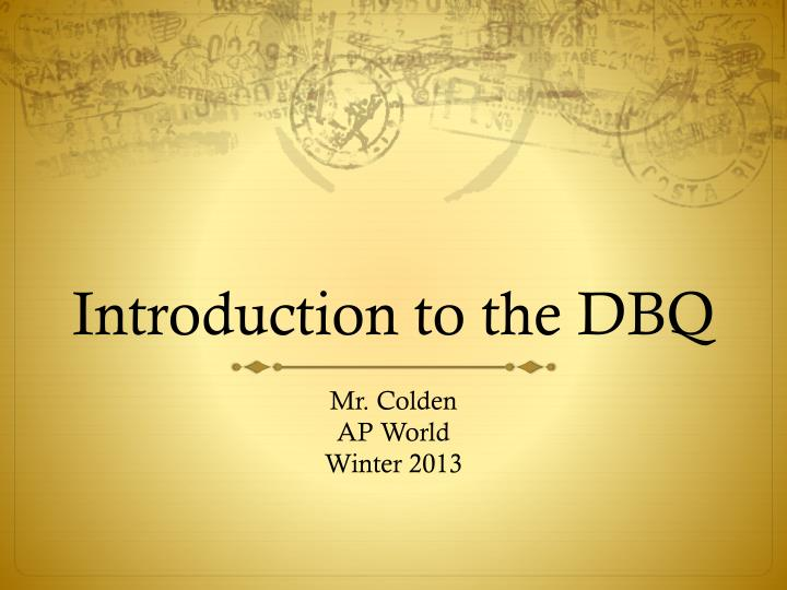 introduction to the dbq n.
