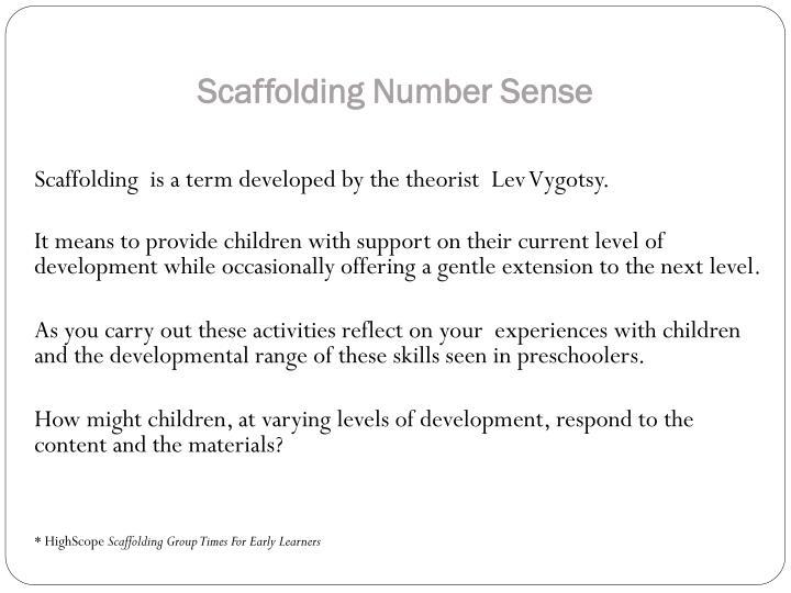 Scaffolding Number Sense
