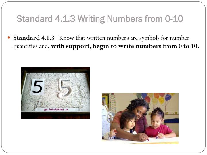 Standard 4.1.3 Writing Numbers from 0-10