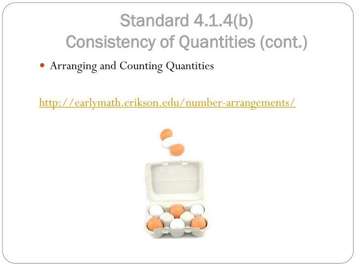 Standard 4.1.4(b)