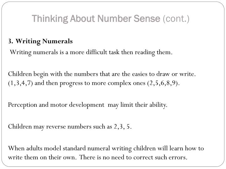 Thinking About Number