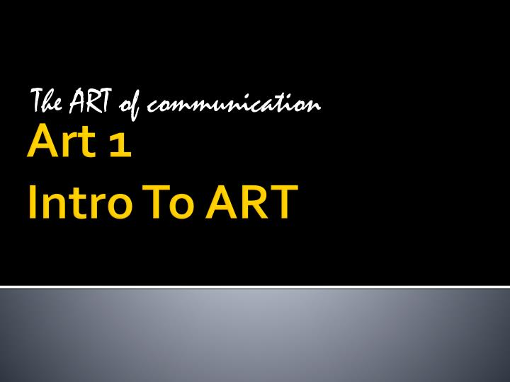 the art of communication n.