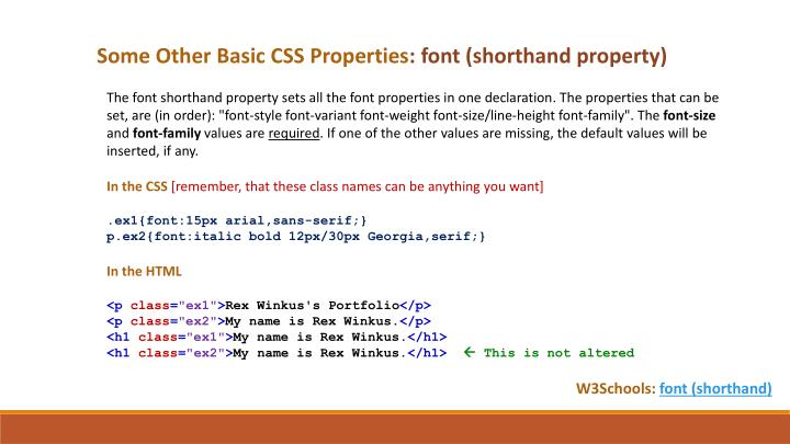 Some Other Basic CSS Properties